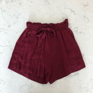 H&M High Waist Paper-Bag Shorts Size 6